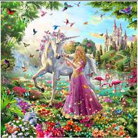 1set Diamond embroidery garden unicorn diamond painting Cross Stitch home M&C