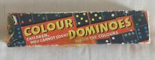 Vintage Colour Dominoes Game By Spears (Complete) Greyhound Backs