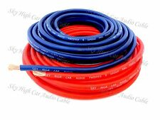 "25 ft Total 8 Gauge AWG 12.5"" RED / 12.5"" BLUE Power Ground Wire Sky High"