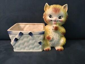 Vintage Kitty Cat Relpo planter