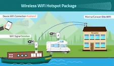 Caravan WiFi Booster Extender Hotspot system + Motorhomes, Boats & Mobile Homes.
