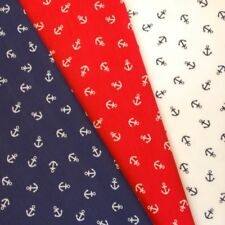Polycotton Fabric Anchors Sam The Sailor Scattered Nautical