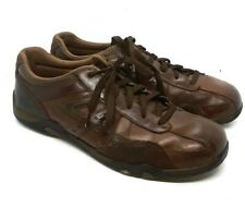 Skechers Vintage Relaxed Step Brown Leather Fashion Sneakers Mens Shoes 10.5