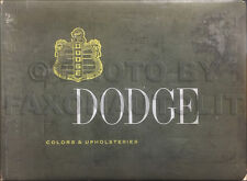1954 Dodge Car Color and Upholstery Dealer Album Coronet Royal Sierra Suburban