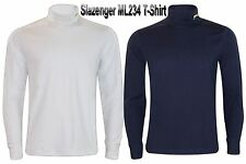 New Mens Slazenger Mens High Roll Neck Sweatshirt Long Sleeves Sports Tee Top
