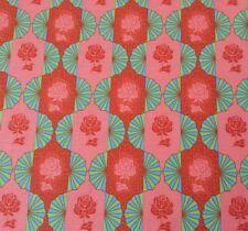 Dowry BTY Anna Marie Horner FreeSpirit Dresden Bulbs Floral Coral Orange