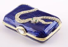 Faberge Snake trinket box hand made by Keren Kopal with Austrian crystals
