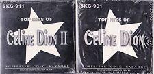 CELINE DION 2 KAROKEE CDS VOLUME 1 AND VOLUME 2 NEW