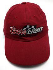 COORS LIGHT RACING maroon / red adjustable cap / hat