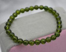Genuine Natural Green Peridot Gemstone Round Beads Bracelet 4mm AAA