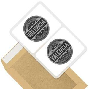 2 x Rectangle Stickers 10cm BW - Valencia Spain Reino De Espana Travel #40500