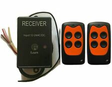 Universal garage door receiver Gate Receiver includes 2 remotes 433.92MHz