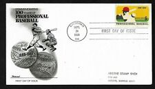 #1381 6c Professional Baseball - Fleetwood FDC