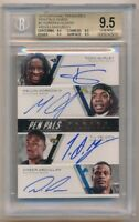 QUAD ROOKIE AUTO BGS 9.5 TODD GURLEY MELVIN GORDON RC SP 2015 NATIONAL TREASURES