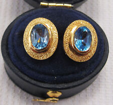 Topaz Yellow Gold 18 Carat Fine Earrings