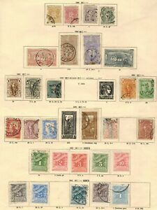 GREECE 1896 - 1901 STAMP SELECTION X 29 MINT AND USED UNCHECKED AND AS RECEIVED