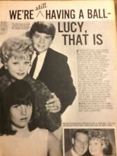 Lucille Ball, Desi Arnaz Jr., Full Page Vintage Clipping