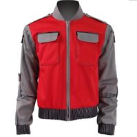 Movie Back To The Future  Marty McFly Jacket Outwear Male Coat Cosplay Costume