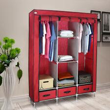 Groß Kapazität tragbarer Zip Schrank Kleiderschrank KleidungSchrank Lagerung DIY