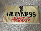 """Vintage Guinness Beer Bar Terry Towel Rare 18"""" X 8.5"""" Bar Mat HTF As Is"""