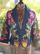 Darling RARE Western Embroidered Beaded Denim Cropped Jacket~Vintage Collection