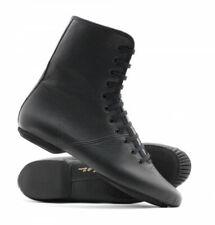 Katz Black Leather Split Sole Ankle Jazz Boots