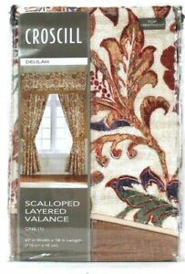 Croscill Delilah 67 In X 18 In Spice Polyester Scalloped Layered Valance