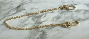 Swivel Hook Chain Extender for Louis Vuitton Bag Extension Clasp LV GOLD 16in