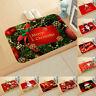 Christmas Door Mat Santa Claus Floor Carpet Antislip Rug Xmas Home Decor 40x60cm
