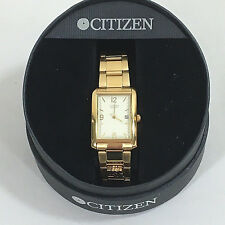 Citizens quartz watch US gypsum mens 10 yr watch SN310222 water resistant AS IS