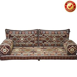 Handmade Seating Sofa Arabic Turkish Oriental Floor Cushions Brown Only Covers