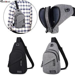 Men Women Chest Sling Shoulder Bag Cross Body Fanny Pack Sports Travel Backpack