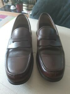 Womens Churchs English Shoes Loafers Made In Italy Size 7 Uk Brown