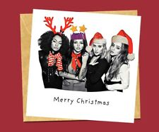 Handmade Personalised Little Mix Pop Music Funny Christmas Card Him Her Daughter