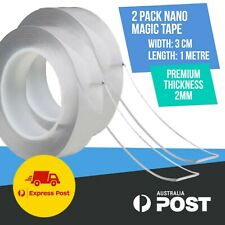 2x Nano Magic Tape Double-Sided Clear Adhesive Invisible Gel Anti-Slip 1 metre