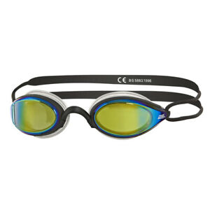 Zoggs Adult Podium Mirror Goggles in Blue/Pink with Mirror Tinted Lenses