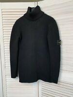 stone Island turtleneck wool sweater size L men high neck black sweater