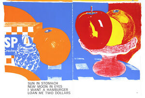"""""""Apples and Oranges"""" from """"One Cent Life"""" by Tom Wesselmann 1964 MINT CONDITION"""