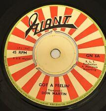 Don Martin Got A Feelin' Original Uk 45' Giant 1967!!