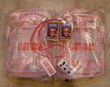 Two [2] Sets of Joanne Lady Gaga Clear Backpacks with VIP & iPhone Chargers