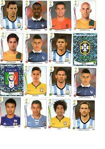 Panini WM 2014 ! - 10 aus 537 auswählen! Brasilien Brasil (alle zählen einfach)