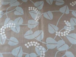 John Lewis Studio Grey Pale Blue Ivy Cotton Linen Mix Material 2m Remnant New
