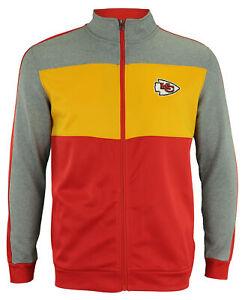 OuterStuff NFL Youth Performance Full Zip Stripe Jacket , Kansas City Chiefs