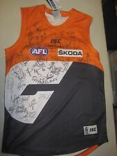 GWS Giants - Team signed GWS  jersey  & COA + Photo proof
