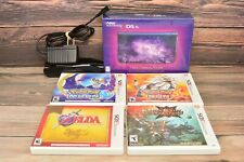 Nintendo 3DS XL Galaxy Style Edition With 4 Games Lot and Charging Station