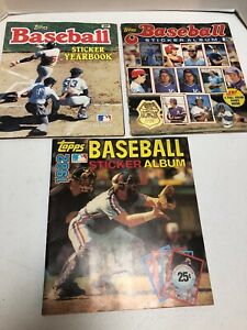 Topps Baseball Sticker Albums From 1982 1983 1984 About Half Complete Lot #TS1