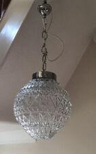 Vintage Pendant Light Chandelier Glass Globe