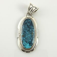 Unique Handmade Sterling Silver Indian Mountain Turquoise Pendant