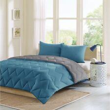 Full/Queen Trixie Reversible Comforter Mini Set Micro Fiber Blue Green Design