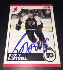 SCOTT HARTNELL - SIGNED - 2010/11 Score #358 Card! *Autographed* Flyers